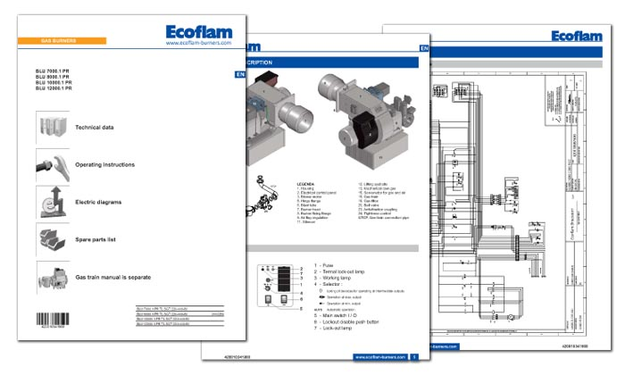 Ecoflam Technical manuals